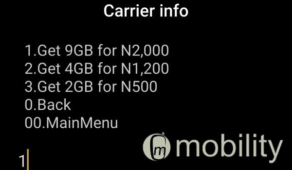 MTN 9gb for 2000 naira via ussd