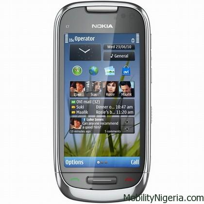 Nokia C7 Symbian3 shipping
