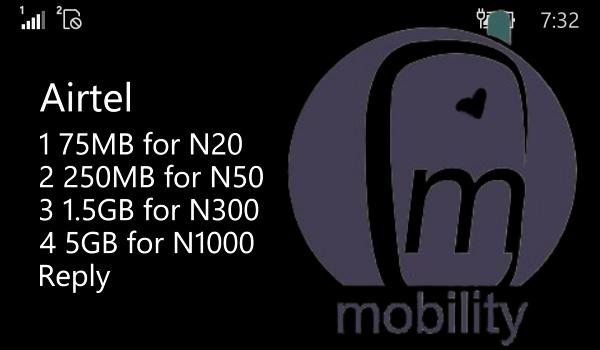 Airtel 5GB for N1000 data plan