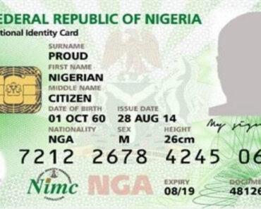 nin - national identification number