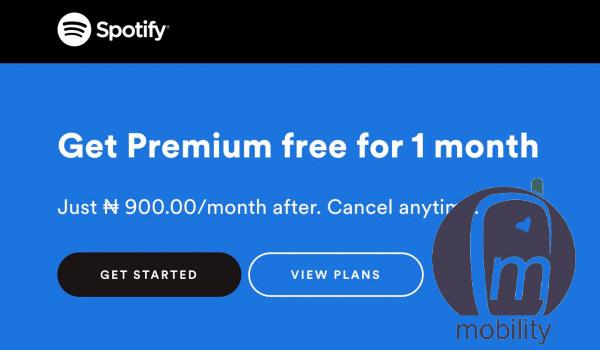 price of Spotify in Nigeria